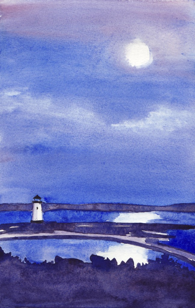 Edgartown by Moonlight