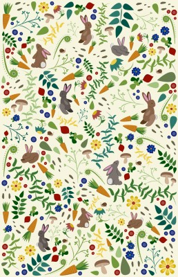 Rabbits In The Garden