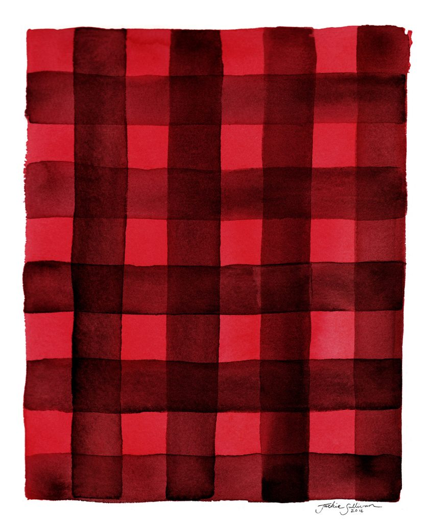 Buffalo Plaid Watercolor