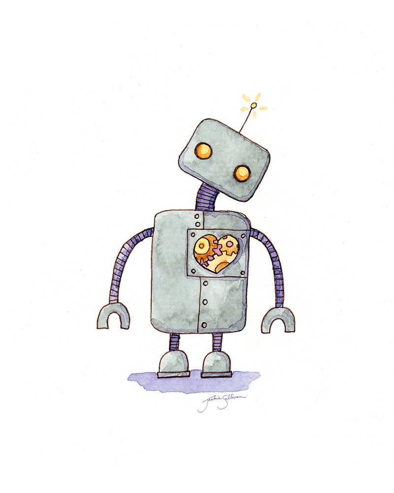 Robot With A Heart