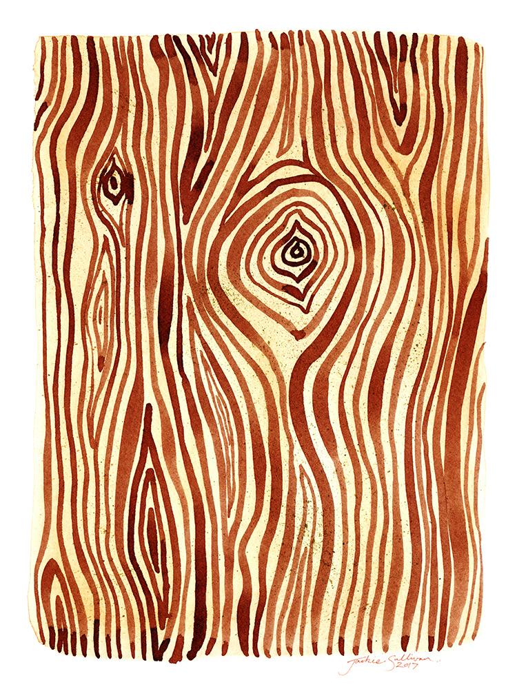 Woodgrain Watercolor