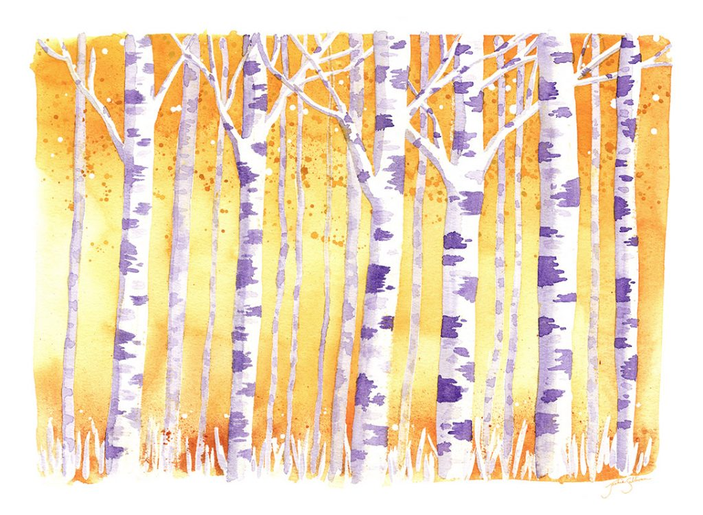 Golden Birch Trees