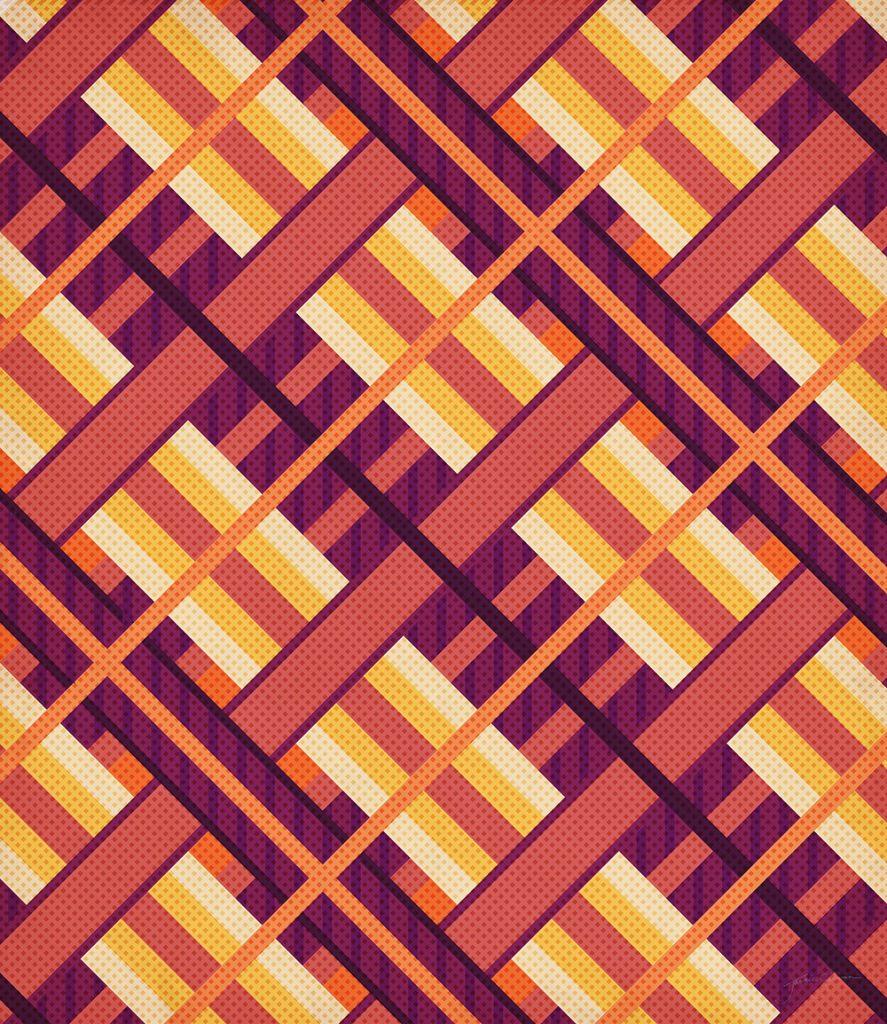 Geometric Sunset Pattern