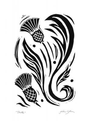 Thistle - Black and White